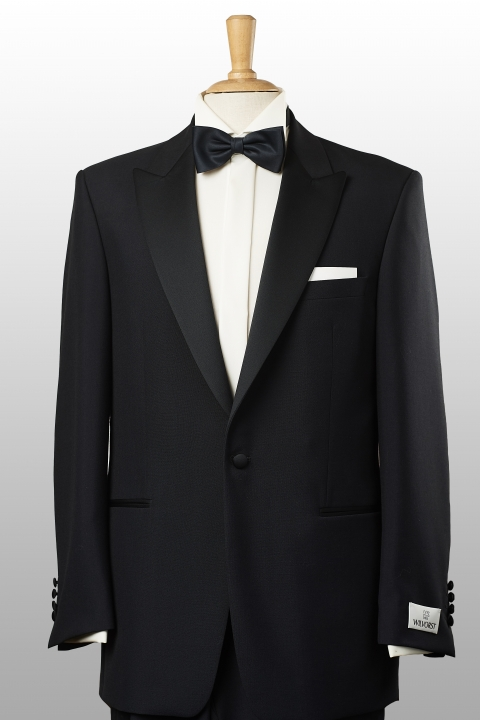 Black-tie peak lapel black